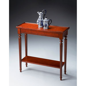 Plantation Cherry Front/Bottom Shelf Console Table