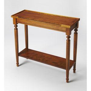 Aubrey Olive Ash Burl Console Table