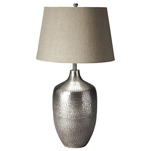 Lemont Antique Silver Table Lamp