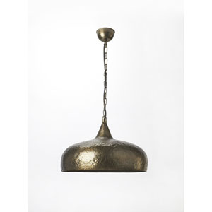 Hammered Antique Brass One Light Pendant