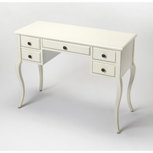 Alicia Cottage White Writing Desk