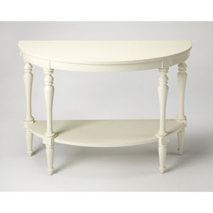 Amherst White Demilune Console Table