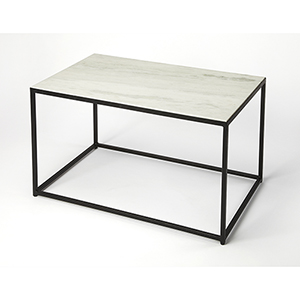 Phinney Marble and Metal Coffee Table