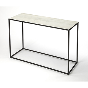 Phinney Marble and Metal Console Table