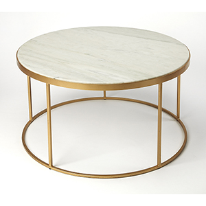 Triton White Marble Coffee Table