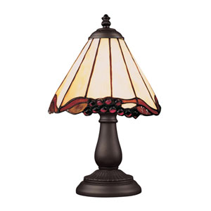 Mix and Match Tiffany Bronze Table Lamp - Wavy Edge