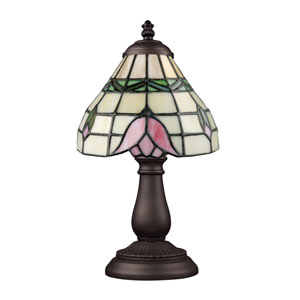 Mix and Match Tiffany Bronze Table Lamp - Roses