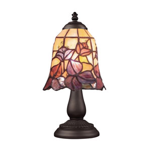 Mix and Match Tiffany Bronze Table Lamp - Flowers