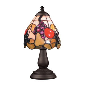 Mix and Match Tiffany Bronze Table Lamp - Fruits