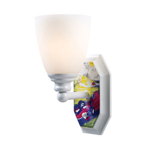 Kidshine White One-Light Sconce Automobiles