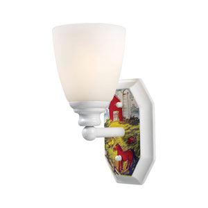 Kidshine White One-Light Sconce on the Farm