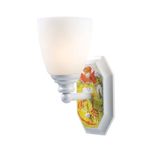 Kidshine White One-Light Sconce Noahs Ark