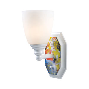 Kidshine White One-Light Sconce in Space