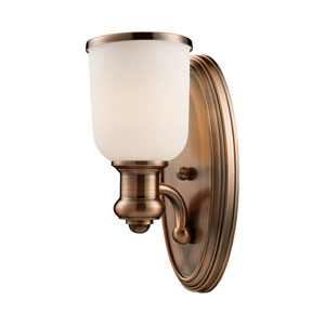Brooksdale One-Light Sconce in Antique Copper