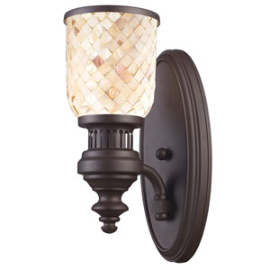 Chadwick Oiled Bronze One-Light Sconce with Cappa Shell