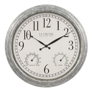 Stainless Steel Outdoor Wall Clock