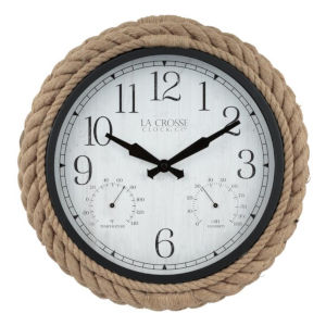 Brown Rope Case Outdoor Wall Clock