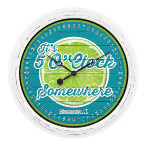 Blue and Green Margaritaville Outdoor Wall Clock