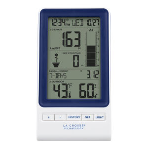 White Digital Display with Rain Gauge