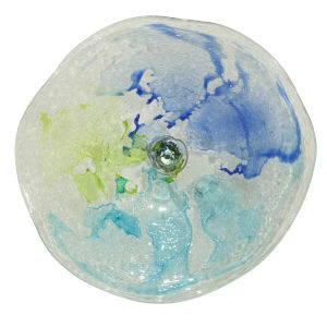 Lime Green, Cobalt and Aqua 21-Inch Wall Plate