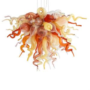Desert Rose Copper Red and Beige Three-Light LED Chandelier