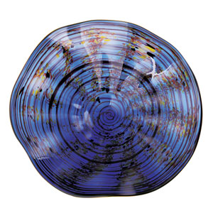 Cobalt Wall Art Plate - Medium