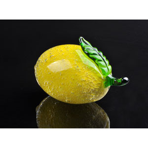 Lemon Hand Blown Art Glass Fruit