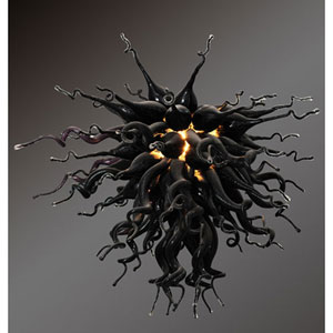 Mini Black Obsidian Chandelier