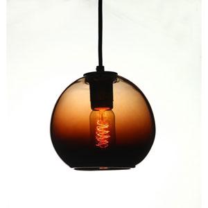Vintage Pearl Black Chocolate Glass Globe Pendant