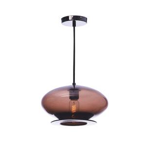 Vintage Pearl Black Chocolate Round Glass Pendant
