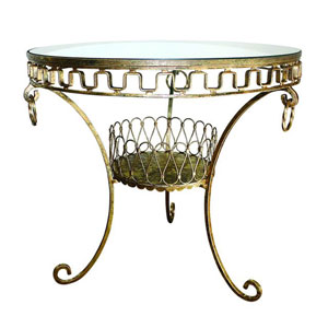 Italian Gold Antique Reproduction Side Table