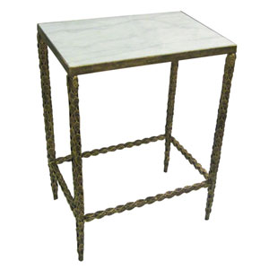 Burnished Gold Iron Side Table