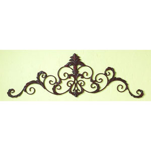 Iron Leaf Antique Brown Horizontal Wall Grille