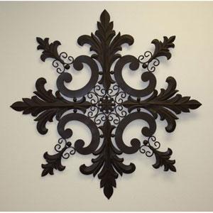 Antique Brown Snowflake Design Wall Decor