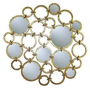 Italian Gold Iron Circle Mirror