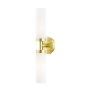 Aero Satin Brass Two-Light ADA Wall Sconce