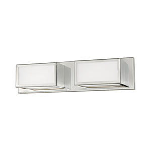 Sutter Polished Chrome 18-Inch ADA Bath Vanity with Hand Blown Satin Opal White Glass