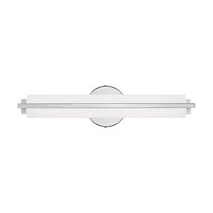 Visby Polished Chrome 4-Inch ADA Bath Vanity with Satin White Acrylic Shade
