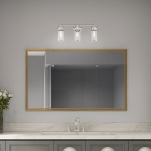 Hillcrest Brushed Nickel 24-Inch Three-Light Bath Vanity