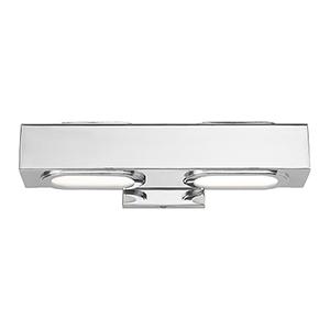 Kimball Polished Chrome 16-Inch ADA Bath Vanity with Satin Glass Diffuser