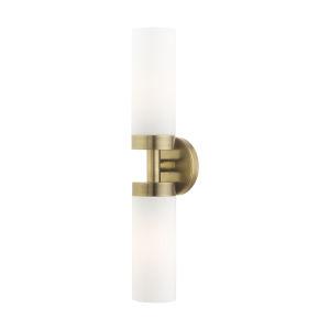Aero Antique Brass Two-Light ADA Wall Sconce