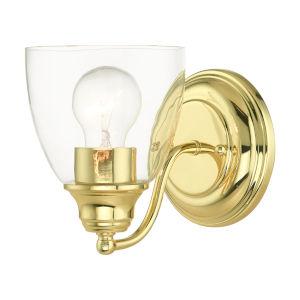 Montgomery Polished Brass One-Light Bath Vanity Sconce