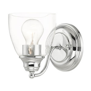 Montgomery Polished Chrome One-Light Bath Vanity Sconce