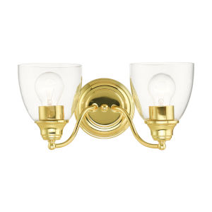 Montgomery Polished Brass Two-Light Bath Vanity Sconce