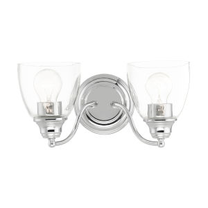 Montgomery Polished Chrome Two-Light Bath Vanity Sconce