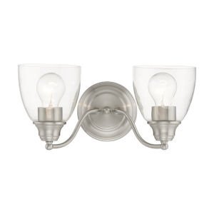 Montgomery Brushed Nickel Two-Light Bath Vanity Sconce
