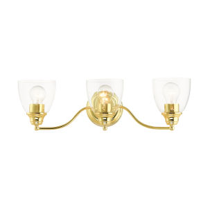 Montgomery Polished Brass Three-Light Bath Vanity Sconce