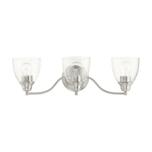 Montgomery Brushed Nickel Three-Light Bath Vanity Sconce
