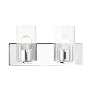 Zurich Polished Chrome Two-Light Bath Vanity