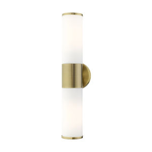 Lindale Antique Brass Two-Light ADA Wall Sconce
